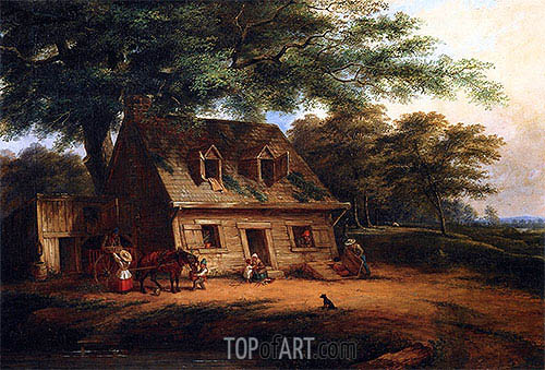 Cottage, St. Anne, c.1850 | Cornelius Krieghoff| Painting Reproduction