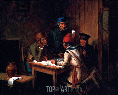 A Game of Cards, 1848 | Cornelius Krieghoff| Gemälde Reproduktion