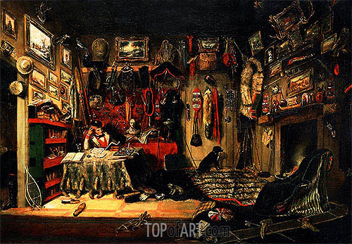 Cornelius Krieghoff | An Officer's Room in Montreal, 1846