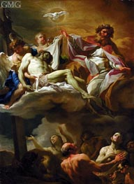 The Trinity with Souls in Purgatory, c.1743 by Corrado Giaquinto | Painting Reproduction
