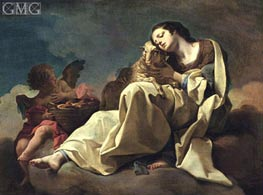 Saint Agnes, undated by Corrado Giaquinto | Painting Reproduction