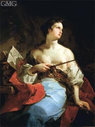 Sibyl (La Maga), undated by Corrado Giaquinto | Painting Reproduction