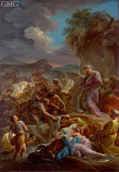 Moses Striking the Rock, c.1743/44 | Corrado Giaquinto | Painting Reproduction