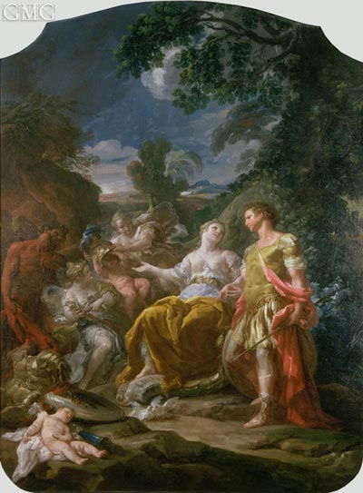 Mars and Venus with Cupids, undated | Corrado Giaquinto | Painting Reproduction