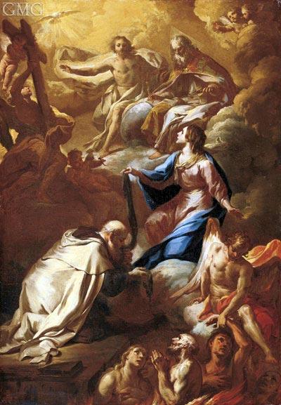 Corrado Giaquinto | Saint Simon Stock and the Virgin Interceding for Souls in Pergatory, undated
