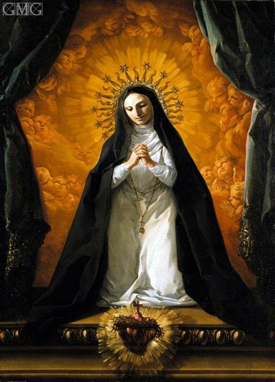 Saint Margaret Mary Alacoque Contemplating the Sacred Heart of Jesus, c.1765 | Corrado Giaquinto | Painting Reproduction