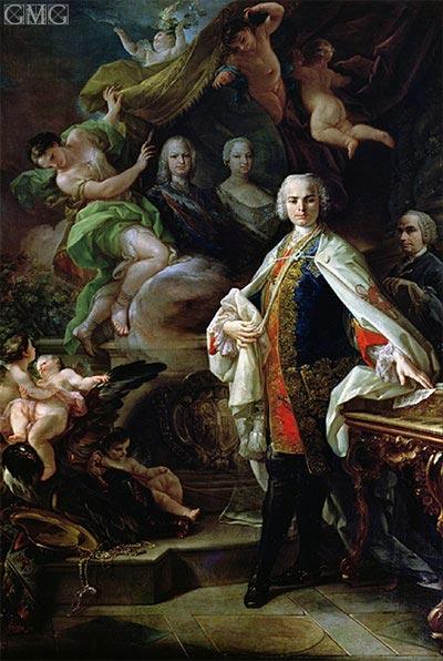 Corrado Giaquinto | Portrait of Carlo Broschi - Il Farinelli, c.1746