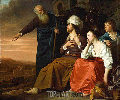 The Laborer of Gibea Offering Hospitality to the Levite and His Wife, Undated | Daniel Jansz Thievaert | Painting Reproduction