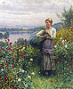 The Rose Garden | Daniel Ridgway Knight