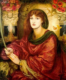 Sybilla Palmifera, c.1866/70 by Rossetti | Painting Reproduction