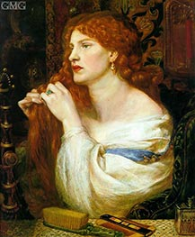 Aurelia (Fazio's Mistress), c.1863/73 by Rossetti | Painting Reproduction