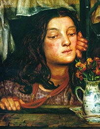 Girl at a Lattice, 1862 by Rossetti | Painting Reproduction