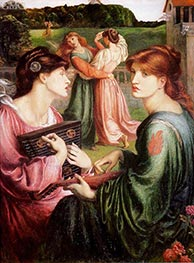 The Bower Meadow | Rossetti | Painting Reproduction