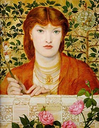 Regina Cordium, 1866 by Rossetti | Painting Reproduction