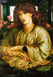 La Donna della Finestra (The Lady of the Window), 1879 by Rossetti | Painting Reproduction