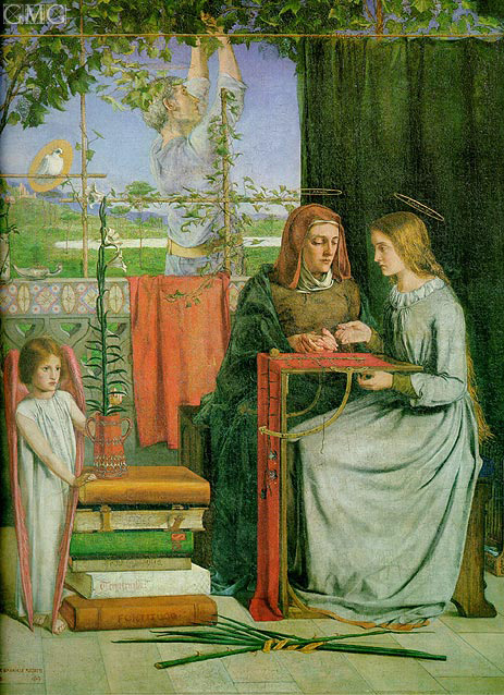 The Childhood of Mary Virgin, c.1848/49 | Rossetti | Gemälde Reproduktion