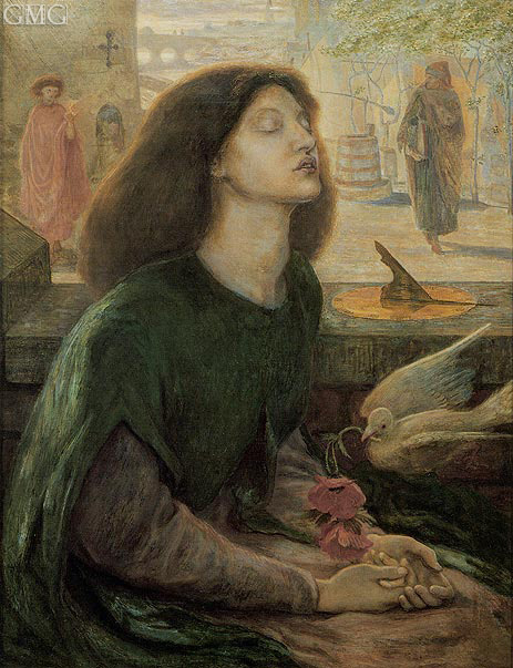 Beata Beatrix (Blessed Beatrice), c.1877/82 | Rossetti | Gemälde Reproduktion