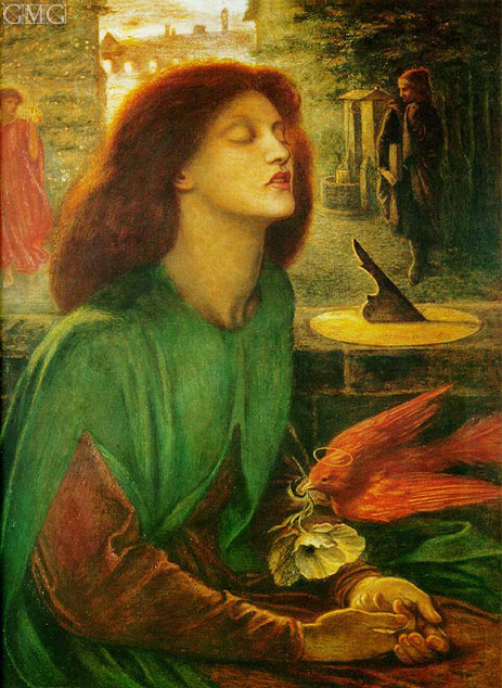 Beata Beatrix (Blessed Beatrice), c.1864/70 | Rossetti | Gemälde Reproduktion
