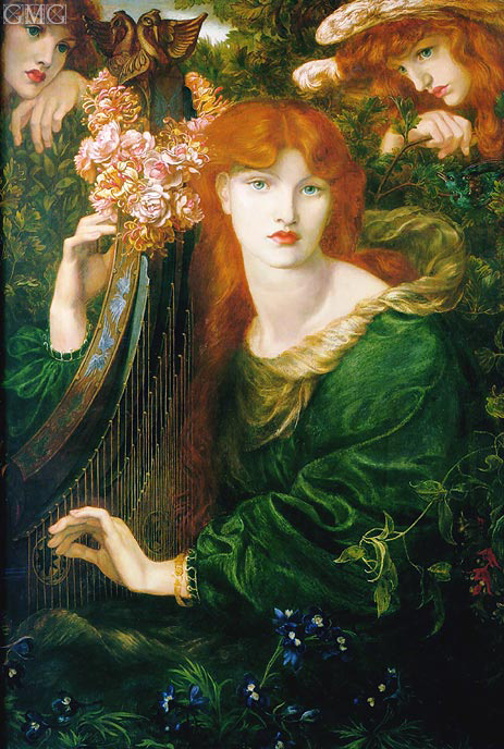La Ghirlandata, 1873 | Rossetti | Painting Reproduction
