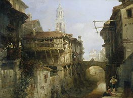 Old Buildings on the Darro, Granada, 1834 by David Roberts | Painting Reproduction