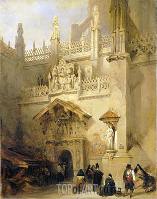 Granada: the Chapel of Ferdinand and Isabella, 1838 | David Roberts | Painting Reproduction