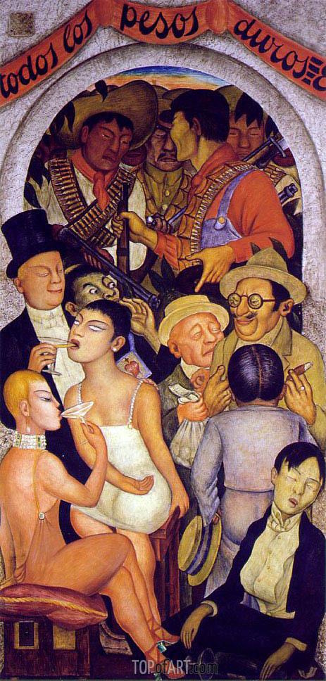 Night of the Rich, 1928 | Diego Rivera | Gemälde Reproduktion