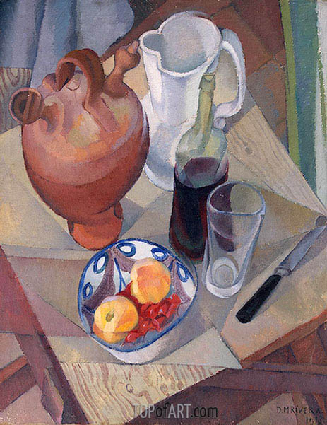 Still Life, 1913 | Diego Rivera | Painting Reproduction