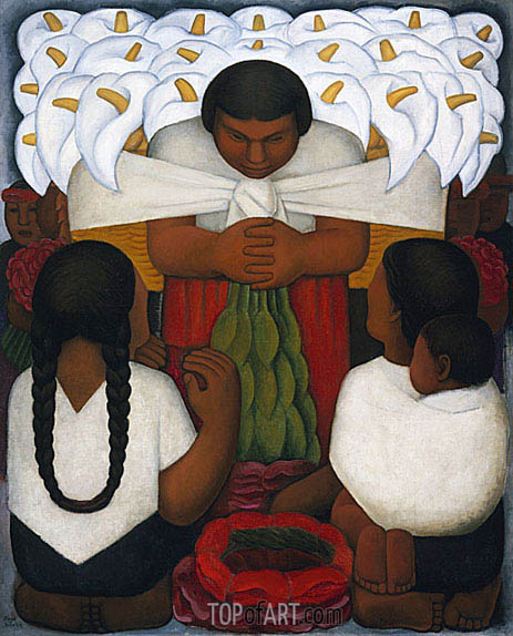 Flower Day, 1925 | Diego Rivera | Painting Reproduction