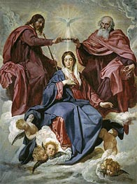 The Coronation of the Virgin, c.1641/44 by Velazquez | Painting Reproduction