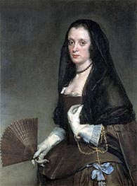 The Lady with a Fan | Velazquez | Painting Reproduction
