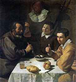 Luncheon, c.1617 by Velazquez | Painting Reproduction
