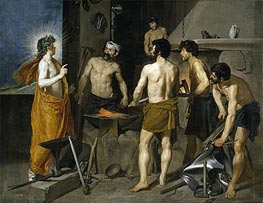 The Forge of Vulcan, c.1630 by Velazquez | Painting Reproduction