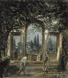Villa Medici in Rome (Facade of the Grotto-Logia) | Velazquez | Painting Reproduction