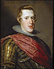 Philip IV in Armour, c.1626/28 by Velazquez | Painting Reproduction