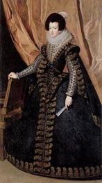 Queen Isabel, Standing, c.1631/32 by Velazquez | Painting Reproduction