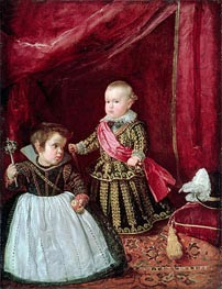 Prince Baltasar Carlos with a Dwarf, 1632 by Velazquez | Painting Reproduction