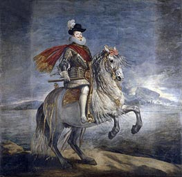Philip III on Horseback, c.1631 by Velazquez | Painting Reproduction