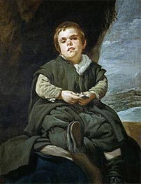 Francisco Lezcano 'The Boy from Vallecas', c.1640 by Velazquez | Painting Reproduction