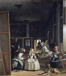 Las Meninas (The Maids of Honor), c.1656 by Velazquez | Painting Reproduction