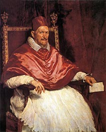 Pope Innocent X, c.1650 by Velazquez | Painting Reproduction
