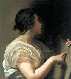 Female Figure (Sibyl with Tabula Rasa), c.1648 by Velazquez | Painting Reproduction