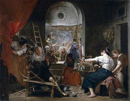 The Fable of Arachne, c.1657 by Velazquez | Painting Reproduction
