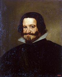 Portrait of Count-Duke Olivares, 1638 by Velazquez | Painting Reproduction