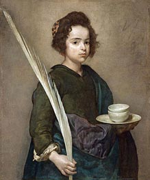 Saint Rufina, Undated by Velazquez | Painting Reproduction