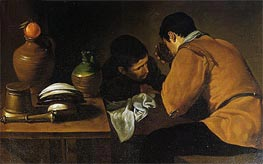 Two Men at Table | Velazquez | Painting Reproduction