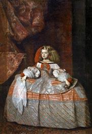 The Infanta Margarita de Austria, c.1665 by Velazquez | Painting Reproduction