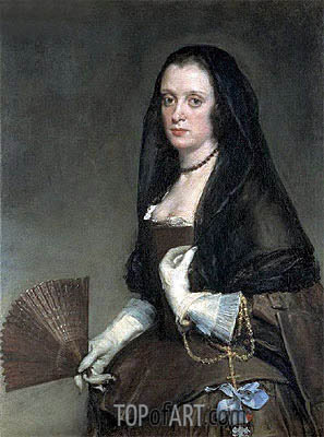 The Lady with a Fan, c.1640 | Velazquez | Painting Reproduction