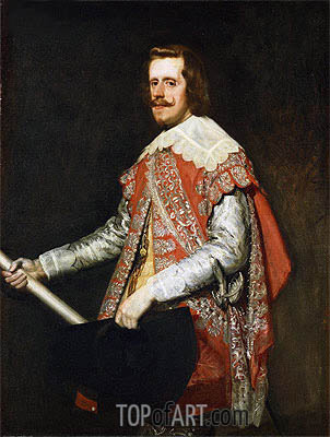 King Philip IV of Spain, 1644 | Velazquez | Painting Reproduction
