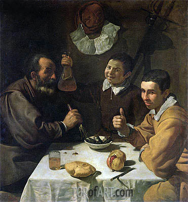 Luncheon, c.1617 | Velazquez | Painting Reproduction