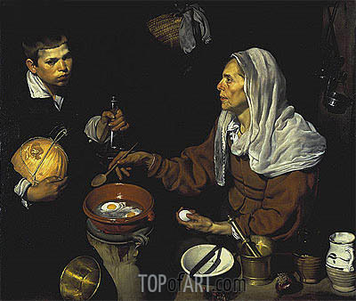 Velazquez | An Old Woman Cooking Eggs, 1618